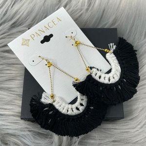 NWT Panacea Fringed Tassel Boho Dangle Earrings
